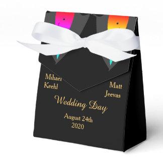 Hearts Aglow with Pride Gay Wedding Favor Box