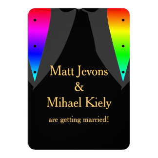 Hearts Aglow with Pride Gay Wedding Save The Date Invitation