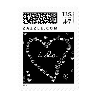 Hearts All Around Customizable Stamp