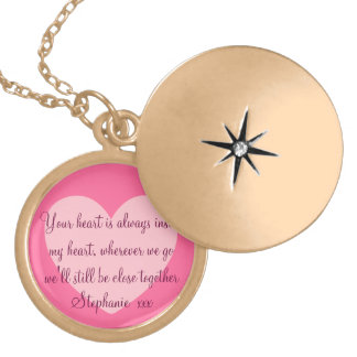 Hearts Always Together Love Message Locket