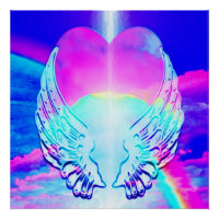 Hearts and Angel Wings Poster