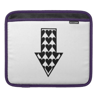Hearts and Arrow iPad Sleeves