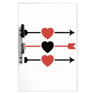 Hearts and Arrows Dry-Erase Board