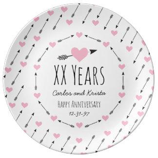 65th wedding anniversary plates zazzle