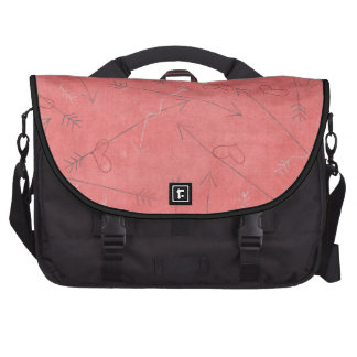 Hearts and Arrows Pink Valentine Heart Pattern Laptop Bags