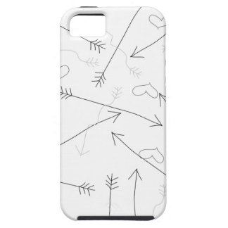 Hearts and Arrows Valentine Heart Pattern iPhone 5 Cases