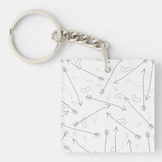 Hearts and Arrows Valentine Heart Pattern Keychain