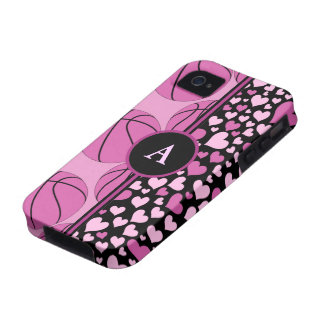 hearts and basketball vibe iPhone 4 cases