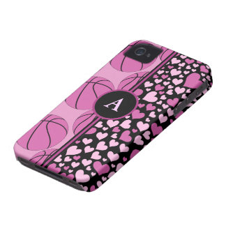 hearts and basketball iPhone 4 Case-Mate case