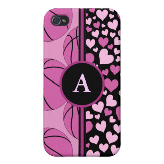 hearts and basketball iPhone 4 case