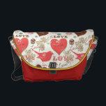 """Hearts and Birds Messenger Bag<br><div class=""""desc"""">Hearts and Birds Bag</div>"""
