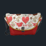 "Hearts and Birds Messenger Bag<br><div class=""desc"">Hearts and Birds Bag</div>"