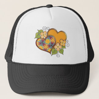 Hearts and Blossoms - Bird of Paradise Flower Trucker Hat