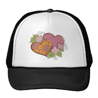 Hearts and Blossoms - Bronse Delight Trucker Hat