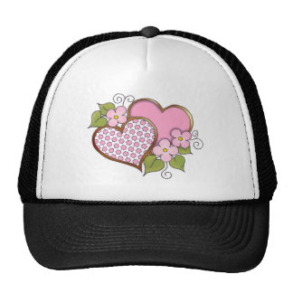 Hearts and Blossoms - Pink Polka Stars Trucker Hat