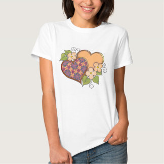 Hearts and Blossoms - Tropical Colors Tshirt
