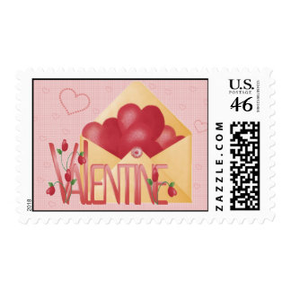 Hearts and Bows Valentine Postage