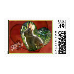 Hearts and Bunny Rabbit Postage Stamps
