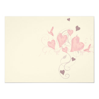 Hearts and butterflies Invitation