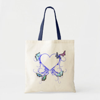 Hearts and Butterflies Tote Bag