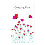 Hearts and Butterflies Valentine Love Business Card Template