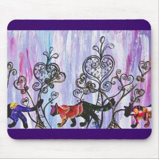 Hearts and Cats Mousepad mousepad