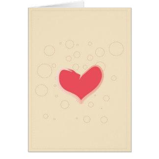 Hearts and Circles Card