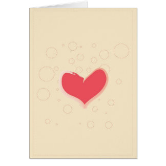 Hearts and Circles Greeting Card