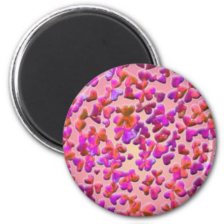 Hearts and Clovers 2 Inch Round Magnet