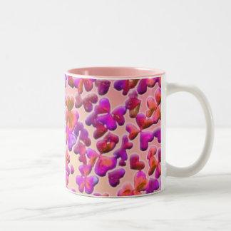 Hearts and Clovers Two-Tone Coffee Mug