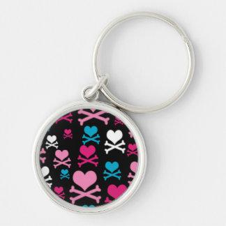 Hearts and Cross Bones Keychain