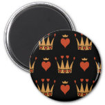 Hearts and Crowns Motif Magnets