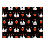 Hearts and Crowns Motif Post Cards