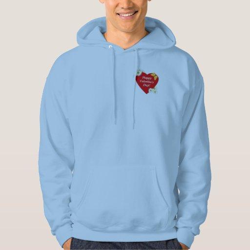 Hearts and Daisies Valentine Hooded Sweatshirt