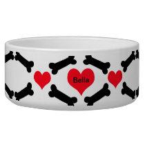 Hearts And Dog Bones Bowl