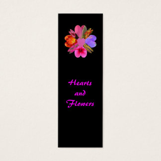 Hearts and Flowers, Bookmark Mini Business Card
