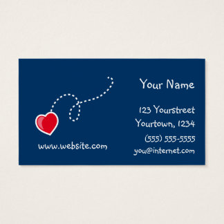 Hearts and Flowers Business Card