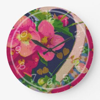 Hearts and Flowers Clock