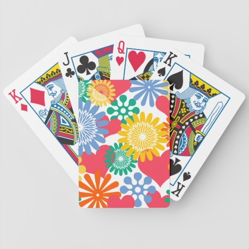 Hearts and Flowers/Colorful Bicycle Playing Cards