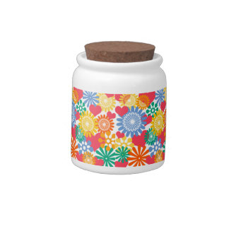Hearts and Flowers/Colorful Candy Dish