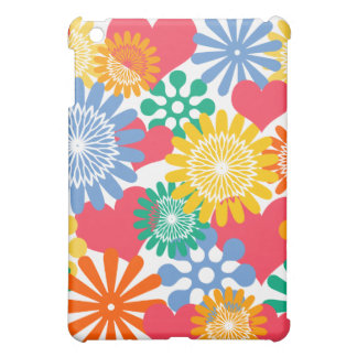 Hearts and Flowers/Colorful iPad Mini Case