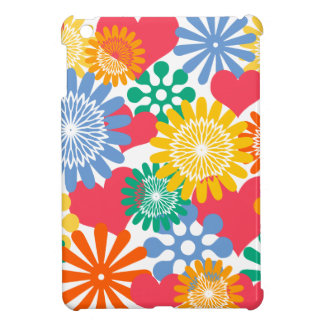 Hearts and Flowers/Colorful iPad Mini Cases