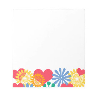 Hearts and Flowers/Colorful Memo Notepad