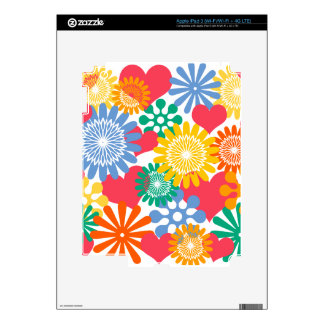 Hearts and Flowers/Colorful Skins For iPad 3