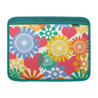 Hearts and Flowers/Colorful Sleeve For MacBook Air