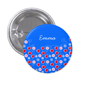 Hearts and Flowers customizable Button