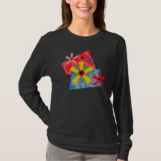 Hearts and Flowers Geometric - Customizable T-Shirt