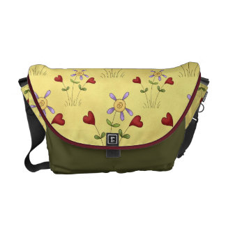 Hearts and flowers commuter bags
