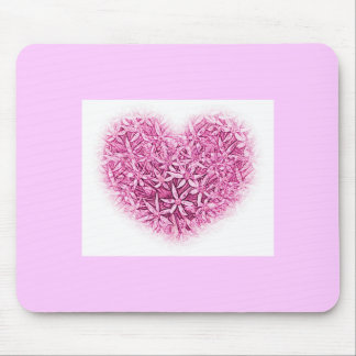 Hearts and Flowers Mouse Mat. Mouse Pad