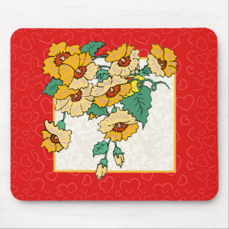 Hearts and Flowers Mouse Pad